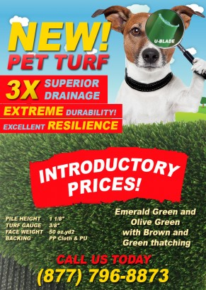 Artificial Grass | New PET TURF with 3X Drainage Capacity Has Arrived!