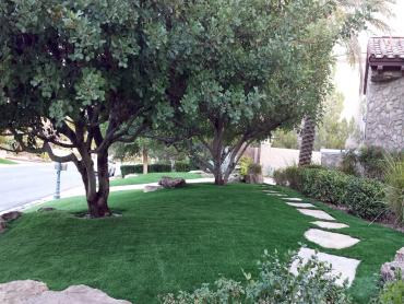 Artificial turf installation idanha oregon paver patio for Cost to landscape front yard