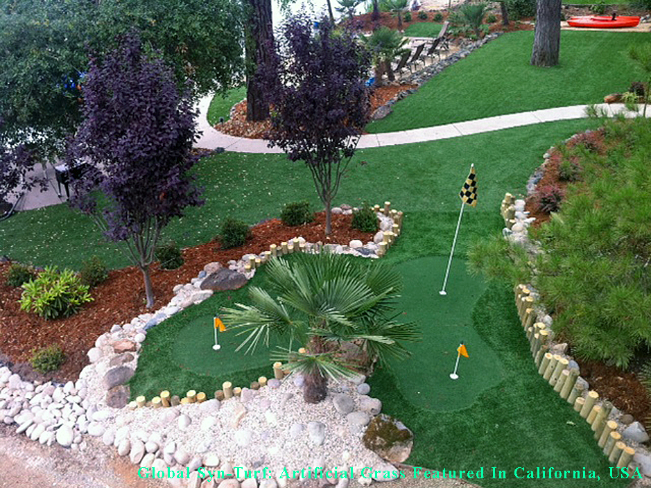 Synthetic Grass Portland, Oregon Best Indoor Putting Green, Small Backyard  Ideas